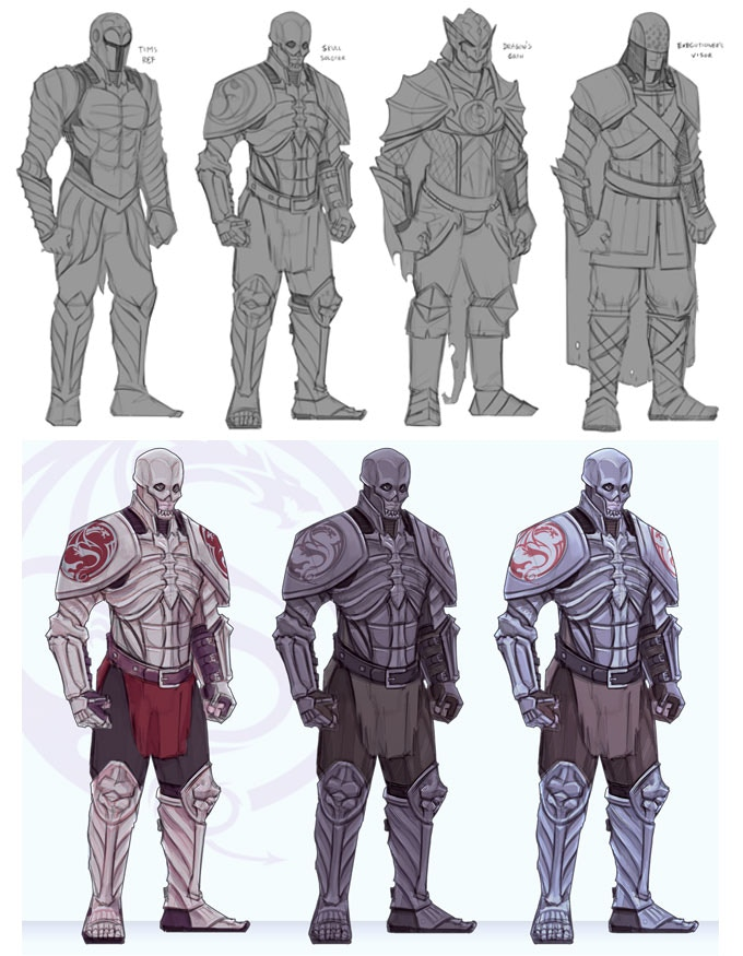 Marrow, foot soldiers of the Dismembered Lord, concept art by André Torres