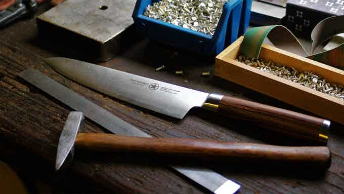 One of our Damascus series knives