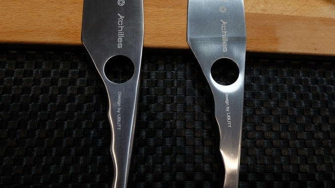 Final version (left), first prototype (right)