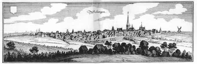 Illustration by Matthäus Merian (1594-1650) in Topographia Westphaliae