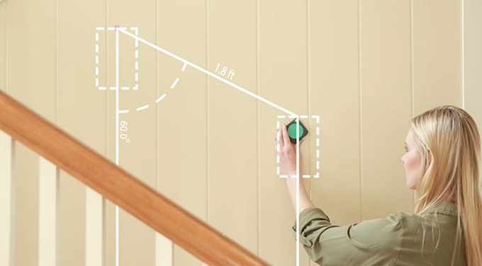 Find the right level, distance, and angle for hanging your photos.