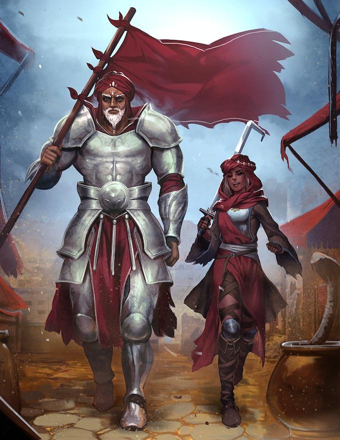 Dragon-Blooded Kickstarter Illustration #1