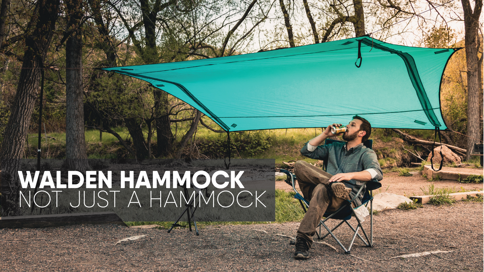Walden Hammocks: Not just a hammock. Easily transforms from a hammock into multiple shelters, sun shade, or a wind block.