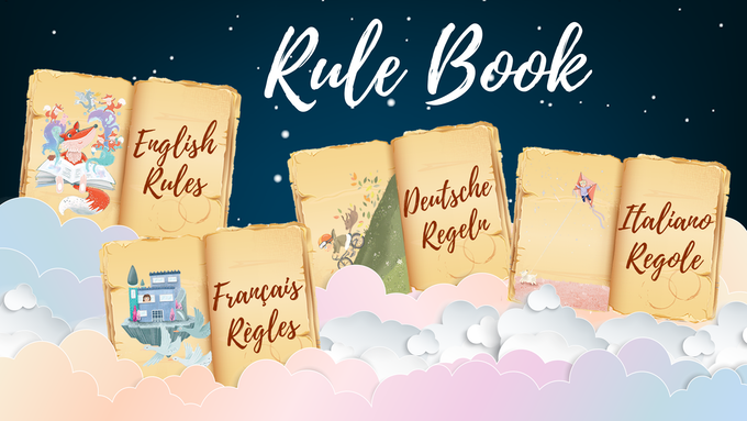 Click here to download rulebook in English, French, Italian, German, and Spanish.