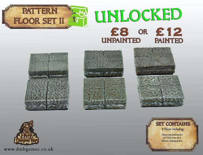 Stretch Goal 12: £7,500 – Pattern Floor Tile Set II – UNLOCKED!