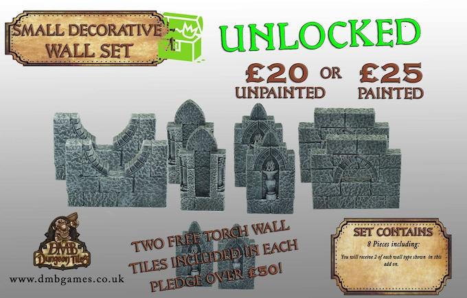 Stretch Goal 14: £8,500 - Small Decorative Wall Set - UNLOCKED!