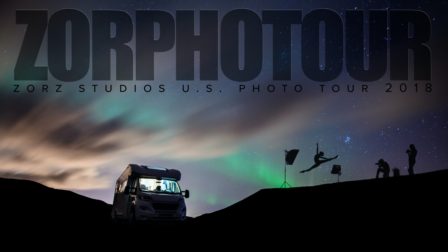 NYC photographers of Zorz Studios are loading up an RV with gear to drive for a month around the USA shooting daring epic portraits.