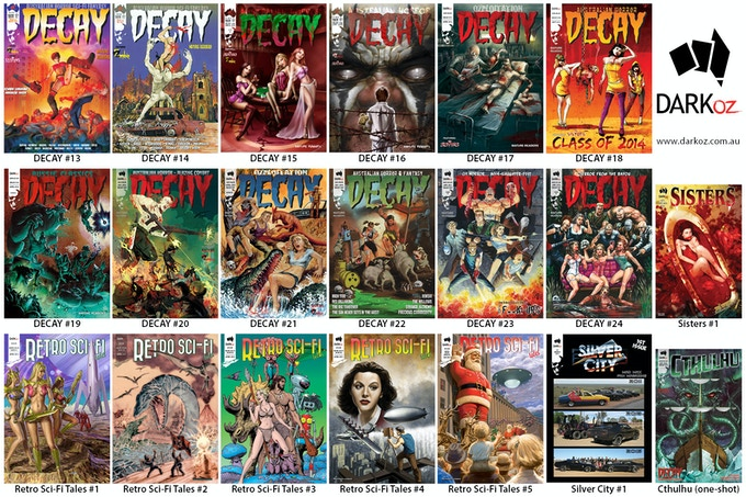 DARK OZ complete current comics
