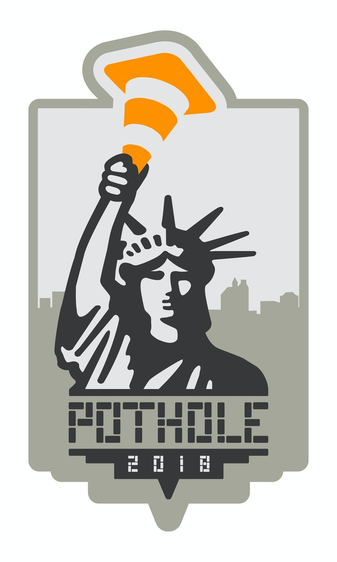 A $5 donation gets you a NYC POTHOLE sticker, $7 gets you a NYC POTHOLE patch and $8 gets you an original POTHOLE pin. $20 gets you all three items!