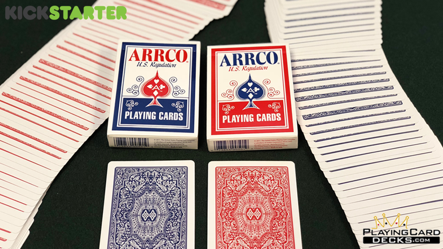 Poker Size Deck Printed by USPCC  - Made in the USA - Traditional Cut, Embossed Finish, Tuck Case Reveal, Limited Edition of 2500 Each.