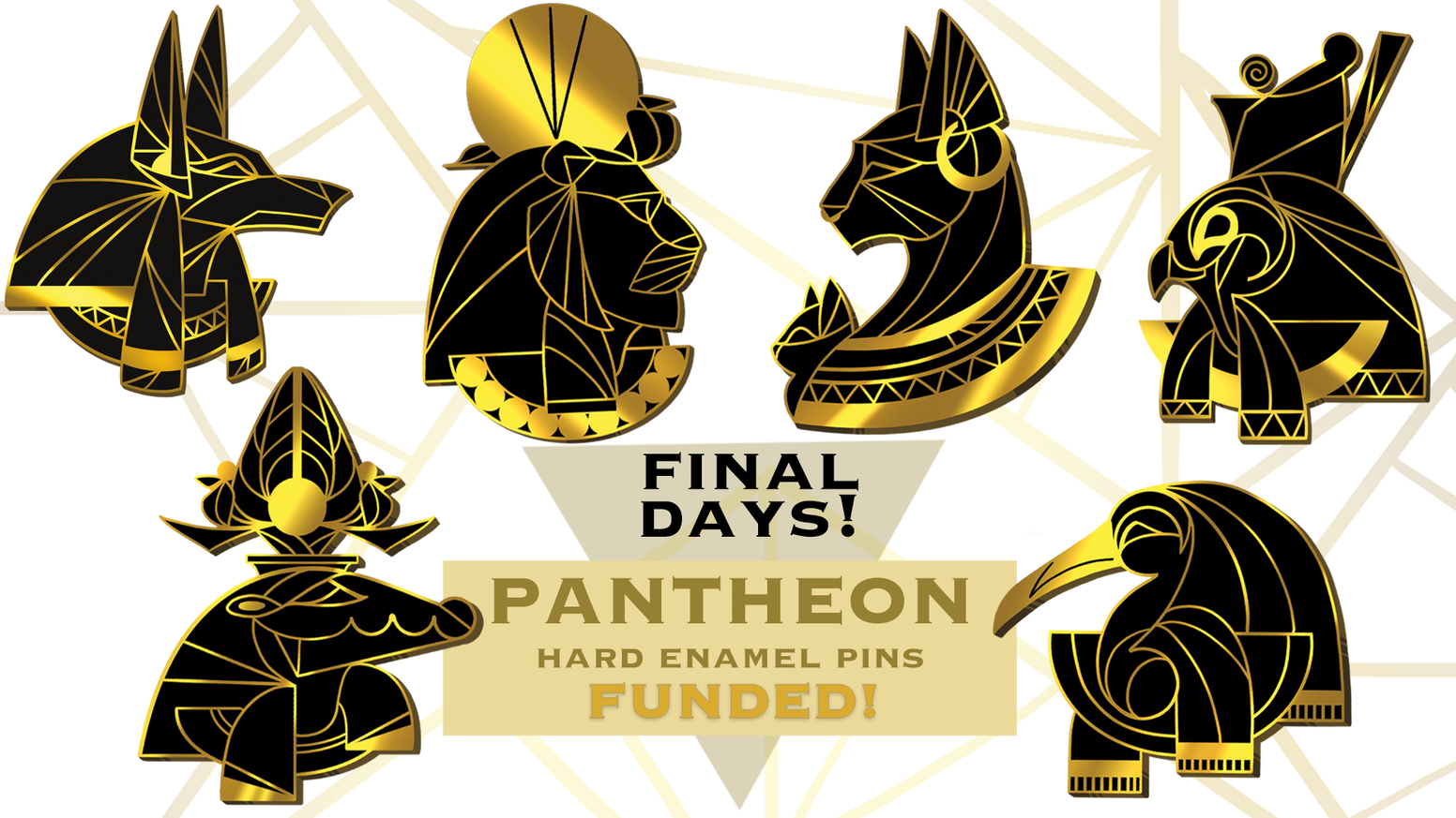 Egyptian Pantheon Hard Enamel Pins by Triangle Art — Kickstarter