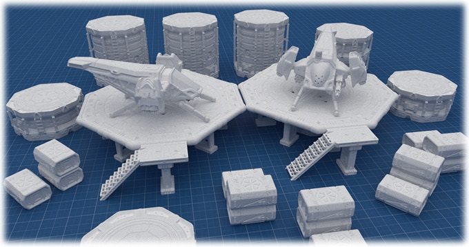 """Full Set"" render (work in progress)"