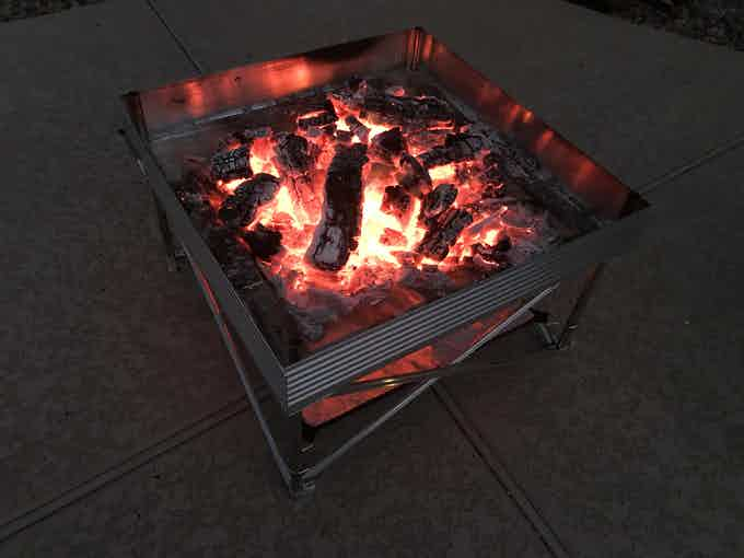 Even Once Your Fire Has Died Down It Continues to Burn Hot Reducing Your Fire To Nothing But White Ash