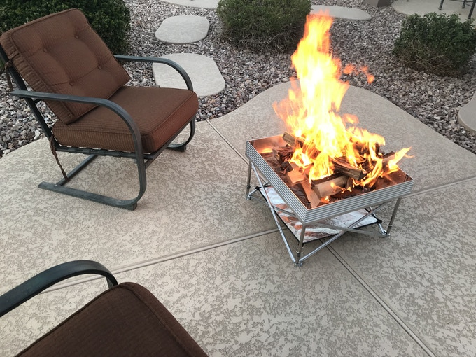 Smoke-Free Burn - With Its Modern Design The Pop-Up Pit is Perfect For Any Backyard