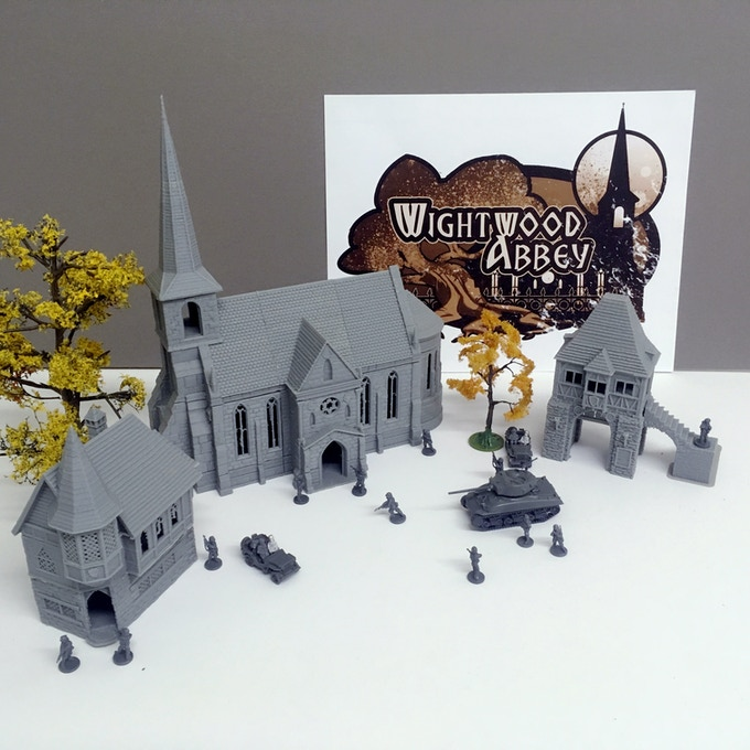 printed for use at 15mm scale (pictured with Flames of War miniatures by Battlefront Miniatures)