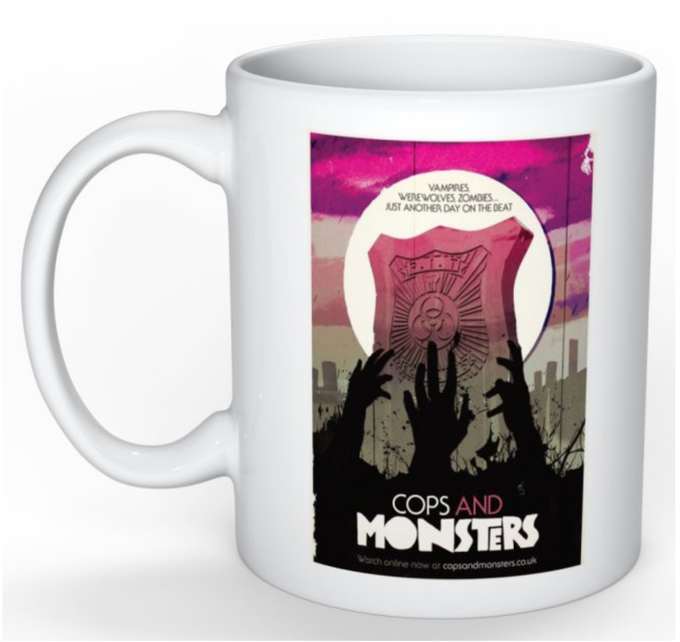 Cops and Monsters Stuart Manning Mug