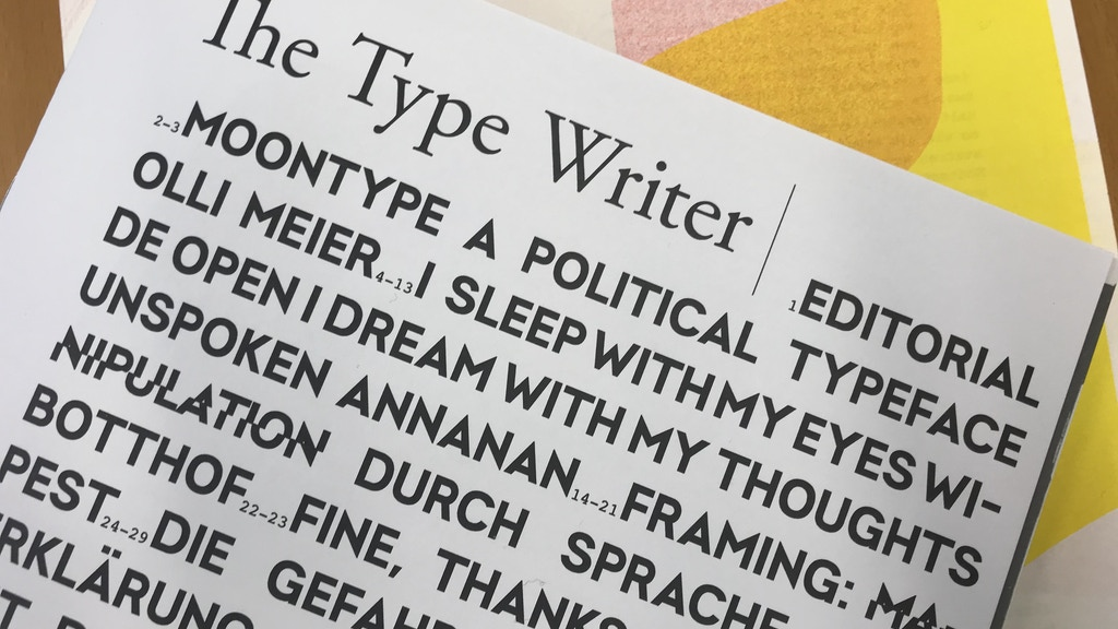 The Type Writer Magazin #2 project video thumbnail