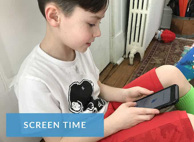 Screen time is definitely a part of our lives.  We just encourage less of it and more quality content, whether it be apps, games, video, TV, YouTube. Quality is key!