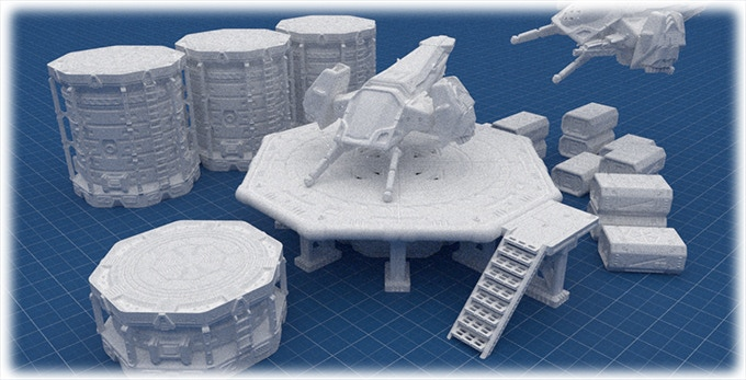 Some elements of the landing facilities