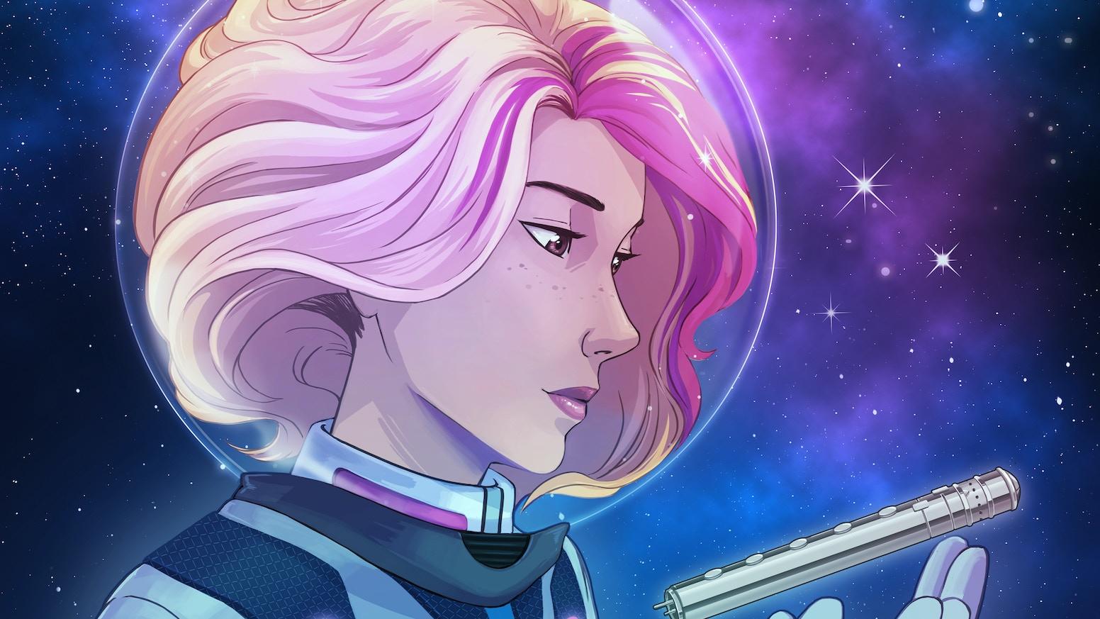 A sci-fi anthology full of seven futuristic fairy tales.