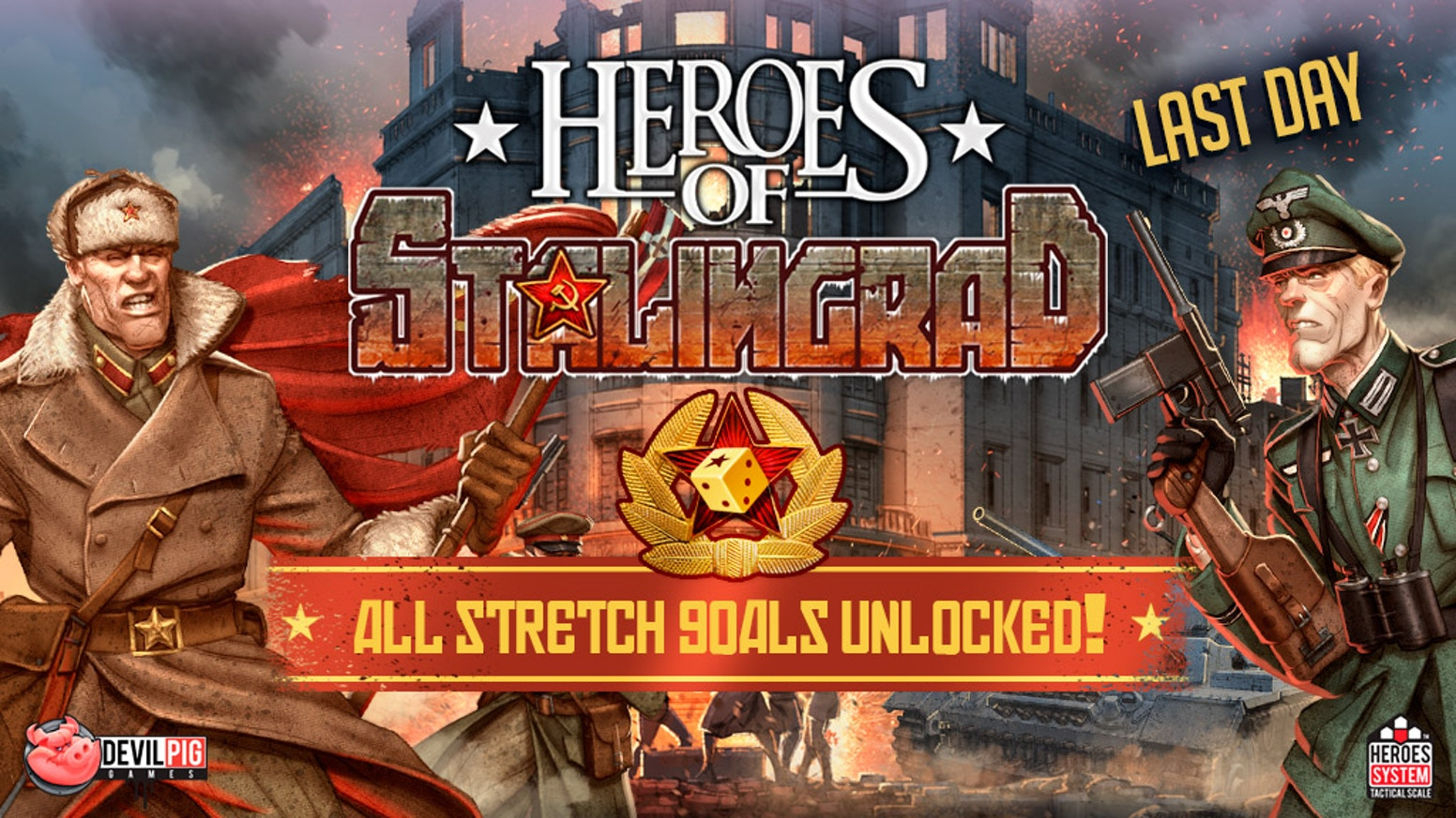 After Heroes of Normandie, unleash your army in besieged Stalingrad and use the Heroes System Tactical Scale to best your opponent!