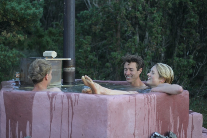 Pink Hot tub