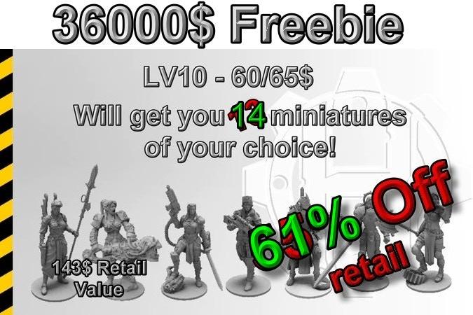 Scifi Heresy Girls – Miniature Set: Heresylab Kickstarter