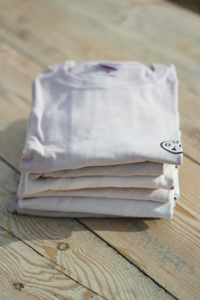Natural dyed DOH T-shirt in XS,S,M,L,XL (EU SIZES)