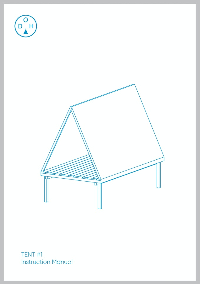 PDF Instruction manual for a standard issue camp tent