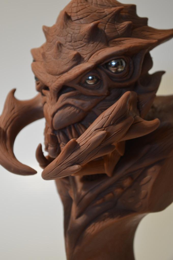 Alien Sculpture - Monster Bust by Patrick Price — Kickstarter