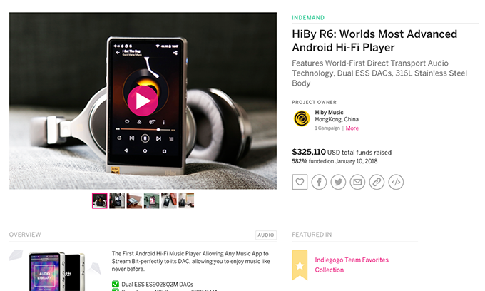 HiBy R3:Ultraportable Touchscreen Hi-Fi Network Music Player