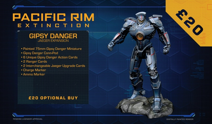 Gipsy Danger is a true Jaeger legend, and a shining beacon of humanities' strength and courage in the face of insurmountable danger. A veteran fighter, Gipsy Danger's name has been etched into history for her heroic actions during the Kaiju Wars.
