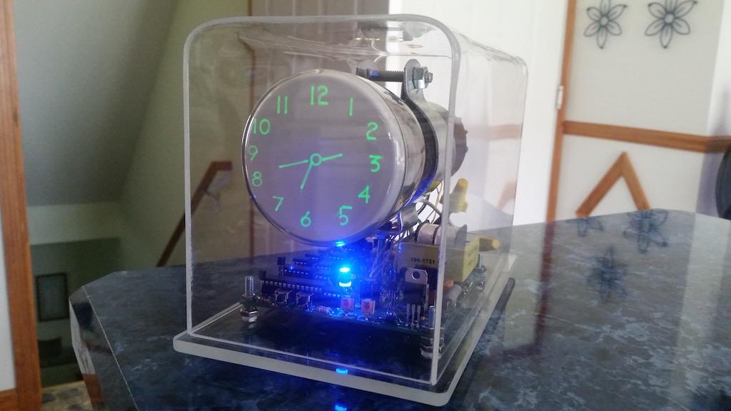 The Oscilloscope Clock VI - GPS module / WiFi module analog project video thumbnail