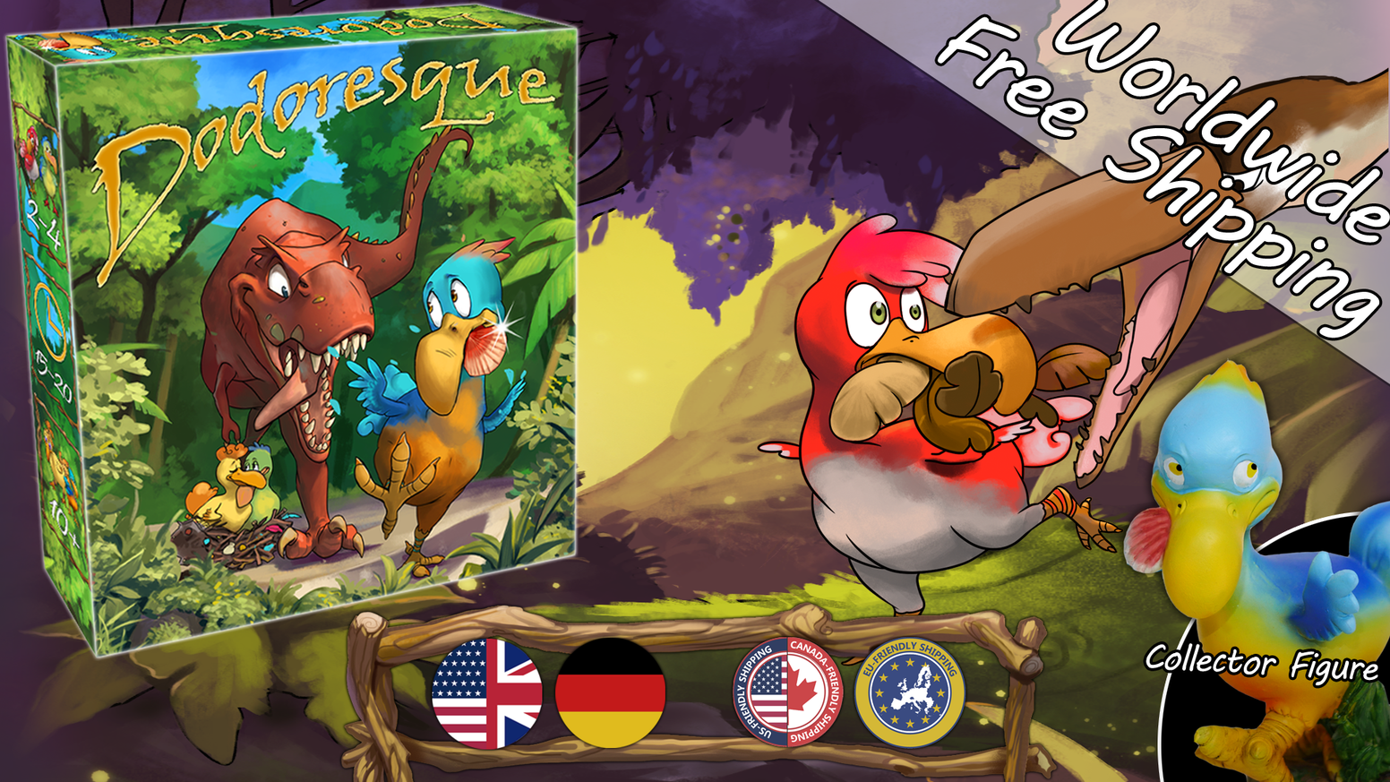 Ever wondered what it would feel like to be a Dodo? Look no further! Dodoresque is a fun and fast-paced card game for all ages.