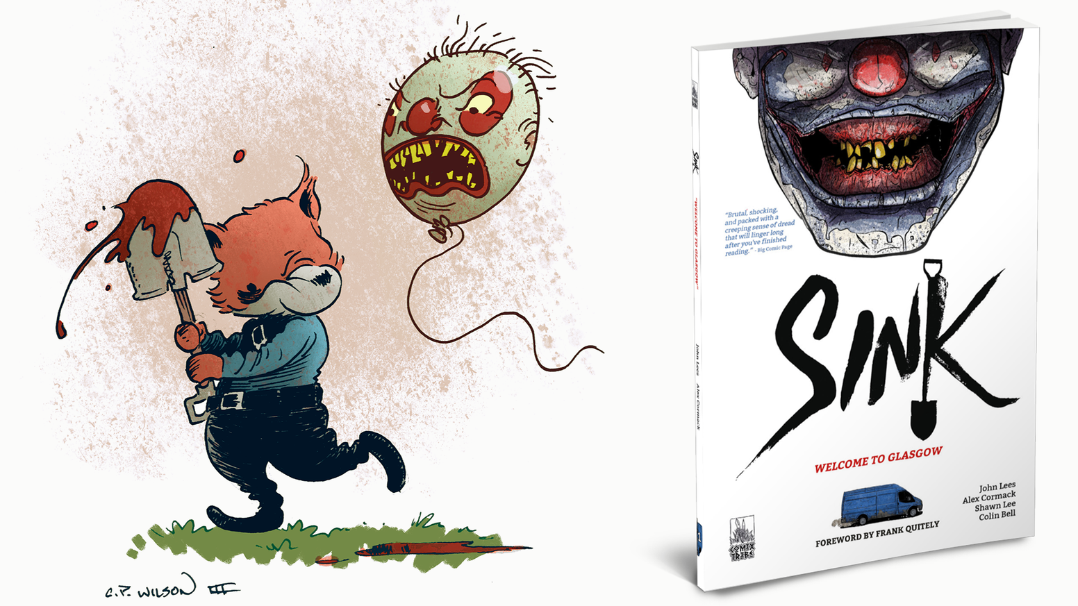 Collects the smash hit thriller SINK #1-5 in a new 160-page volume. Limited edition hardcover available. Foreword by Frank Quitely.