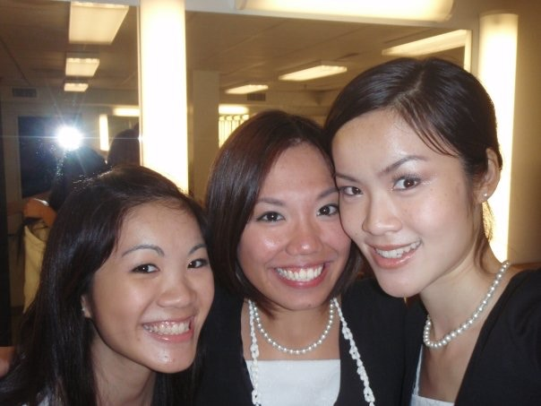 From right to left: Cecilia, Ming, and Alice (Cecilia's sister and best friend)