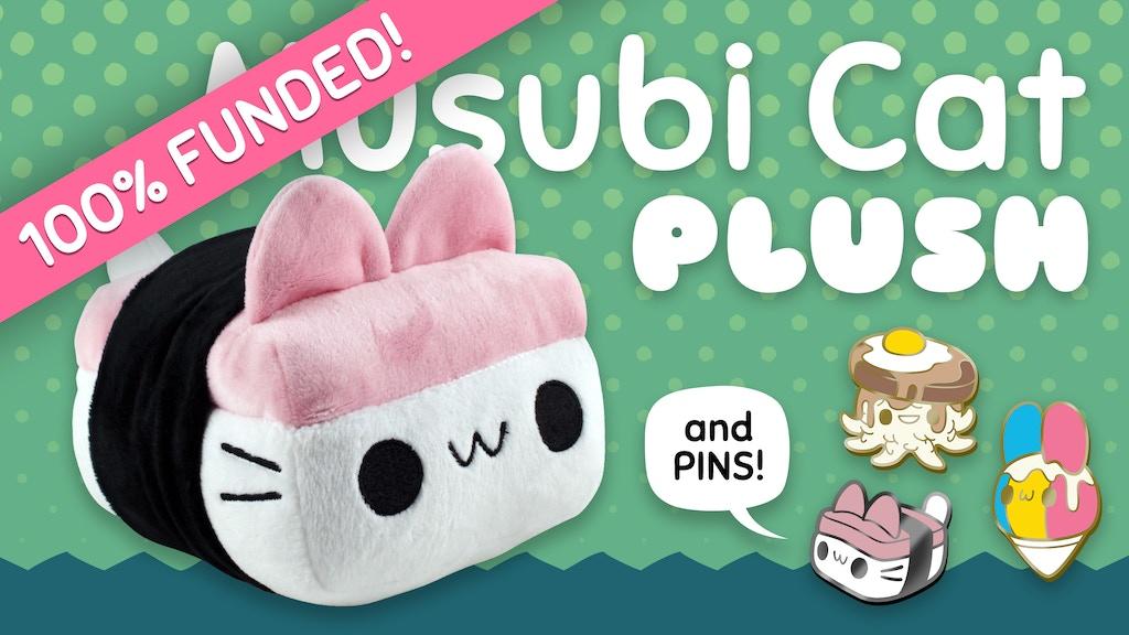 Musubi Cat Plush Toy & Cute Hawaii Food Enamel Pins project video thumbnail