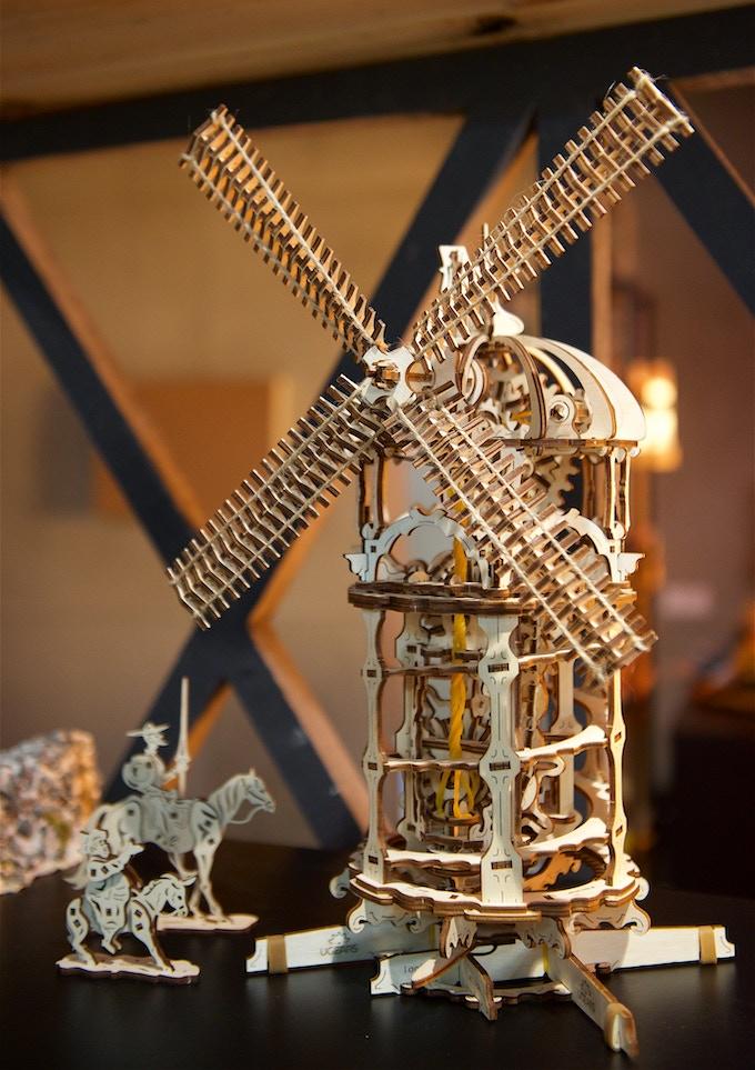 Ugears Tower Windmill Model
