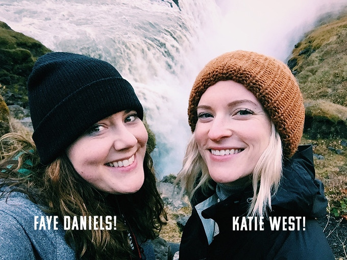 Faye and Katie in Iceland!