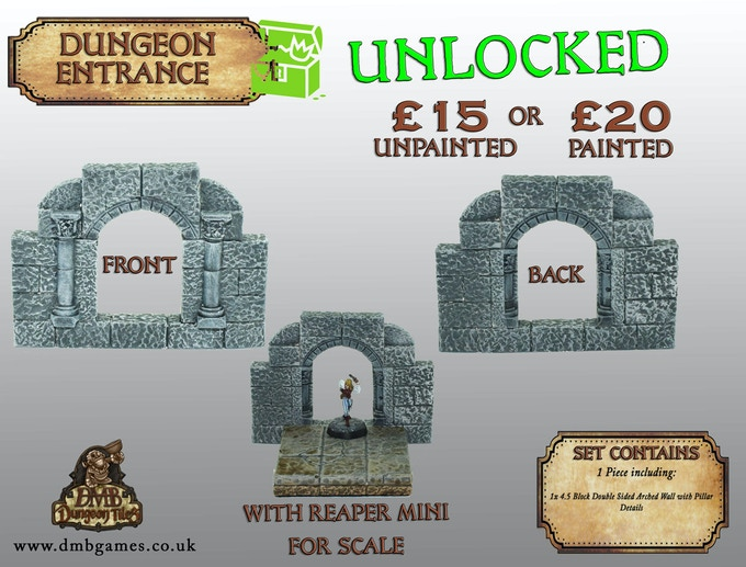 Stretch Goal 16: £9,500 - Dungeon Entrance - UNLOCKED!