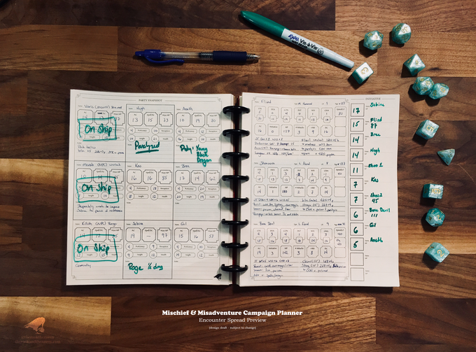 A Preview of the Campaign Planner's Encounter Spread