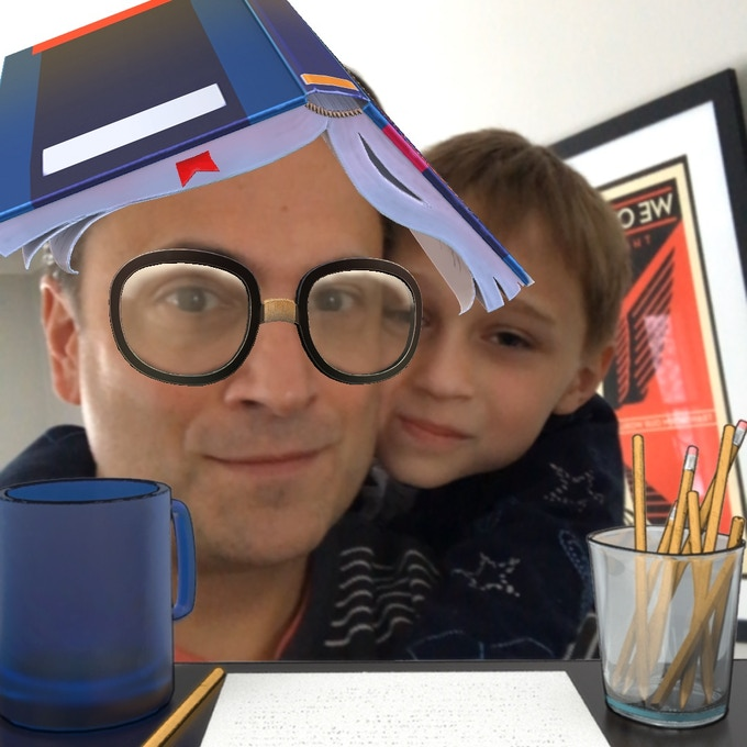 Author and son