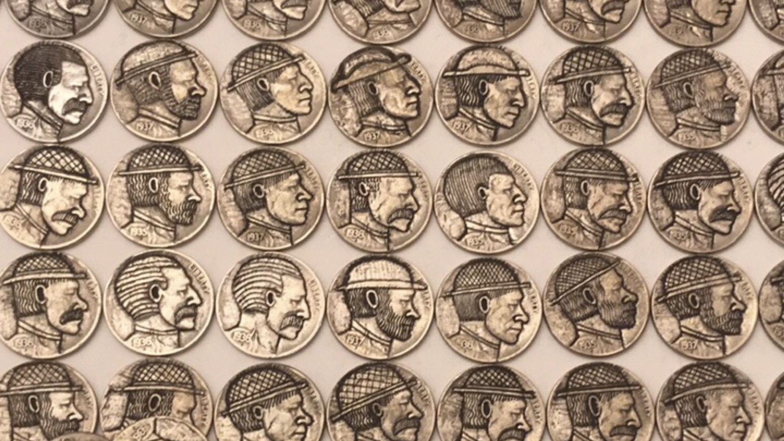 HAND CARVED HOBO NICKELS CARVED INTO OLD BUFFALO NICKELS by