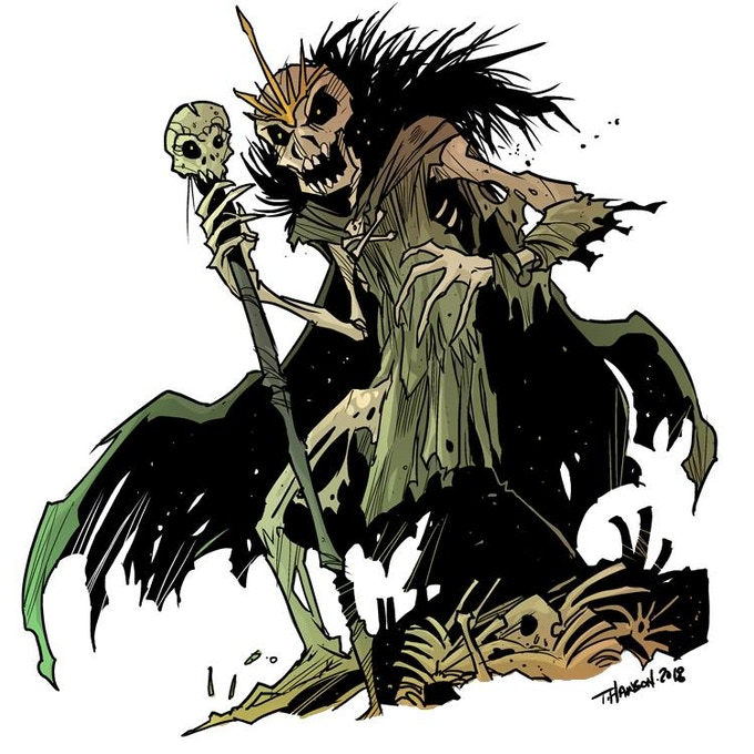 The newest creature, the Skeleton King!