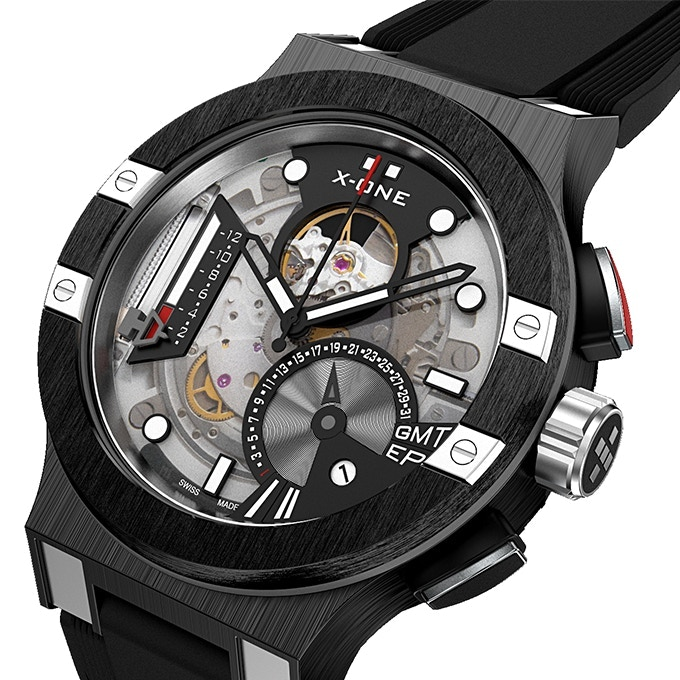 The X-One combines swiss-made, automatic movements with smartwatch features for iOS and Android devices.
