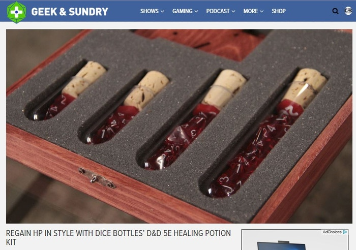 REGAIN HP IN STYLE WITH DICE BOTTLES' D&D 5E HEALING POTION KIT