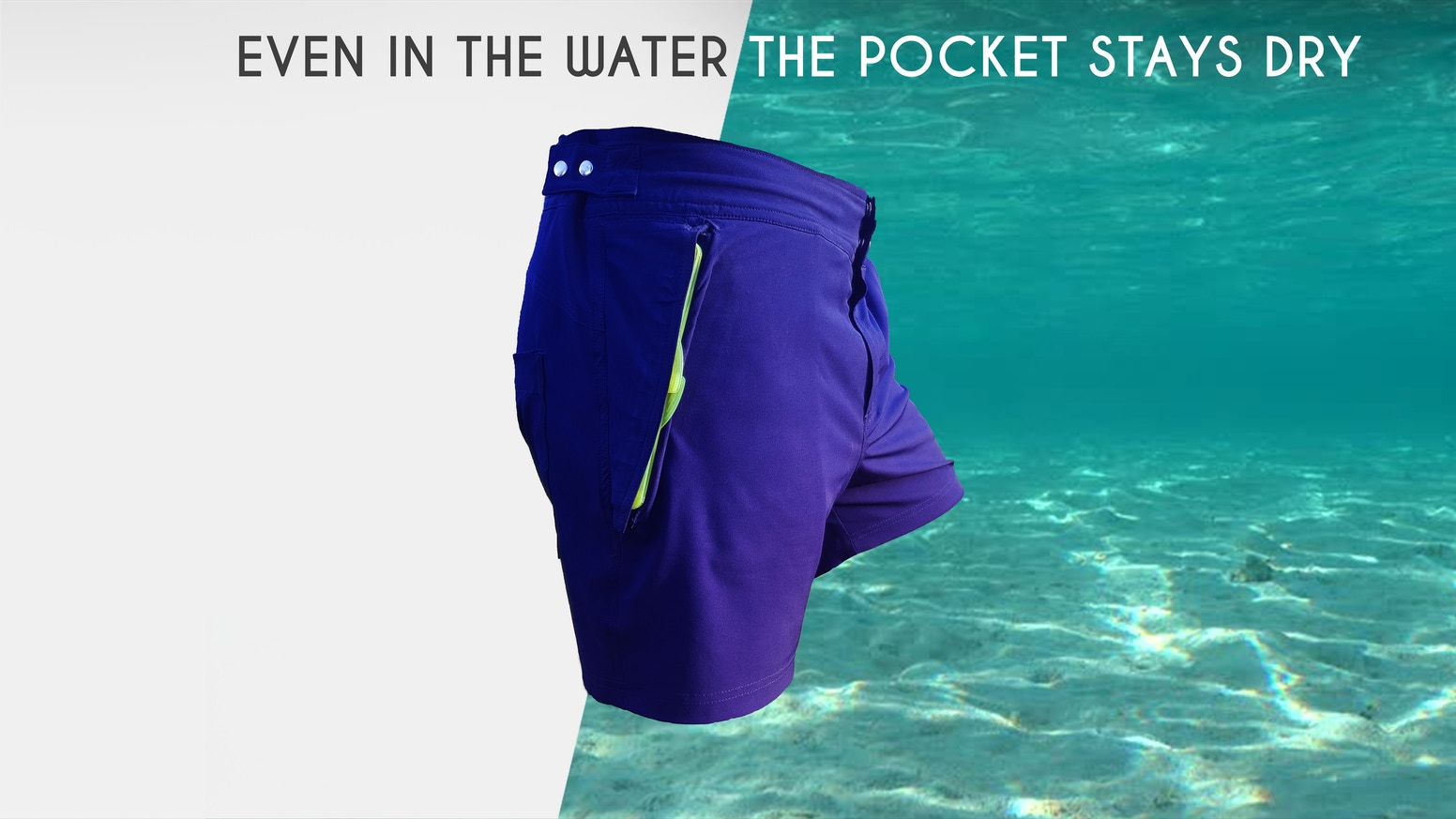 Everything in Your Pocket Stays Dry, 30m/100ft underwater! Be ready for any Adventure. Magnetic-Tech. 9+ features