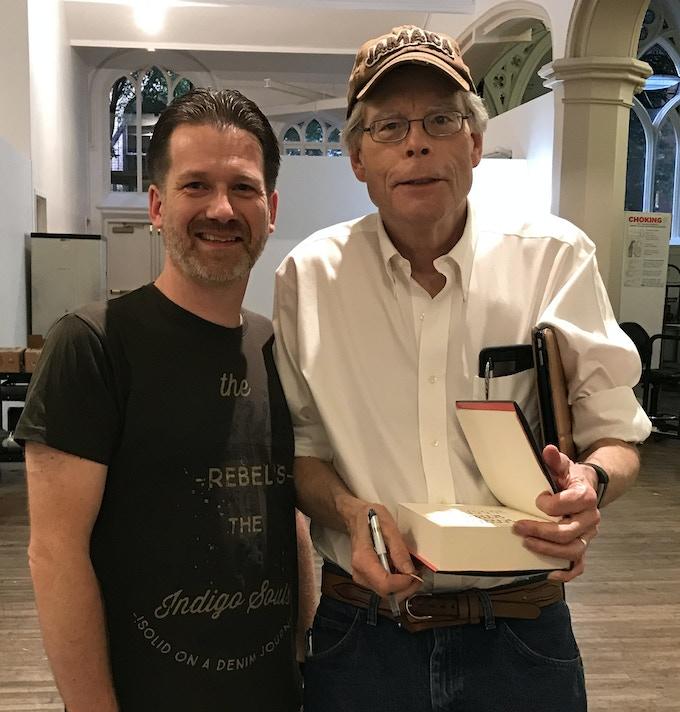 Hans-Åke Lilja och Stephen King.