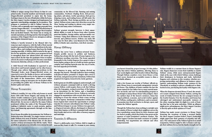 Sample Great House page spread. Artwork and design subject to change.