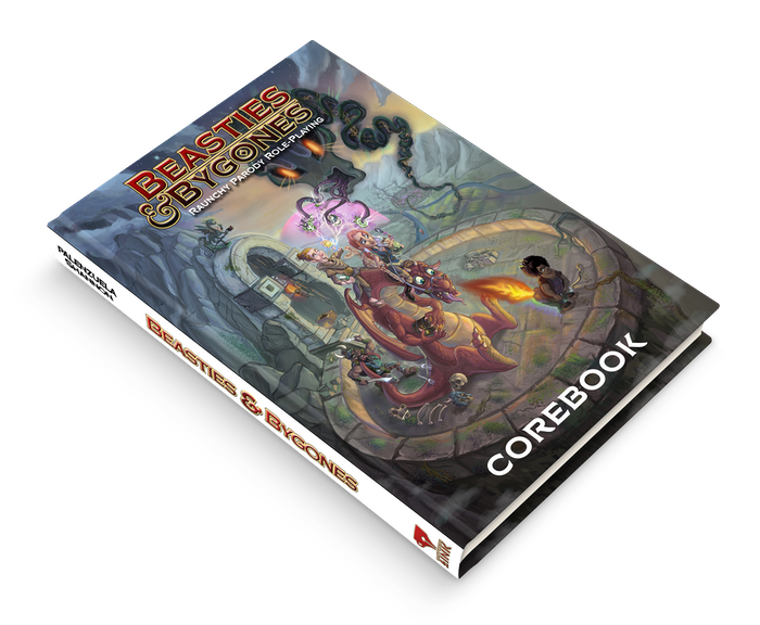 EU-FRIENDLY! An RPG world & guide to creating THEME-based satirical adventures! Play one-shots or cannibalize. Lampoon taboo subjects!